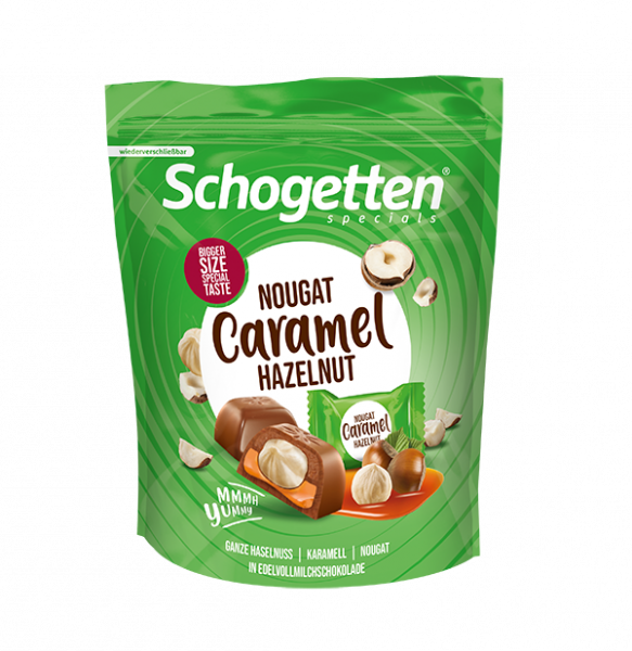 Schogetten Specials Nougat Caramel Hazelnut 125g