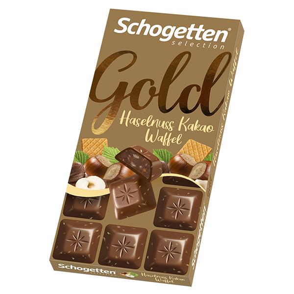 Gold Haselnuss Kakao Waffel 100g