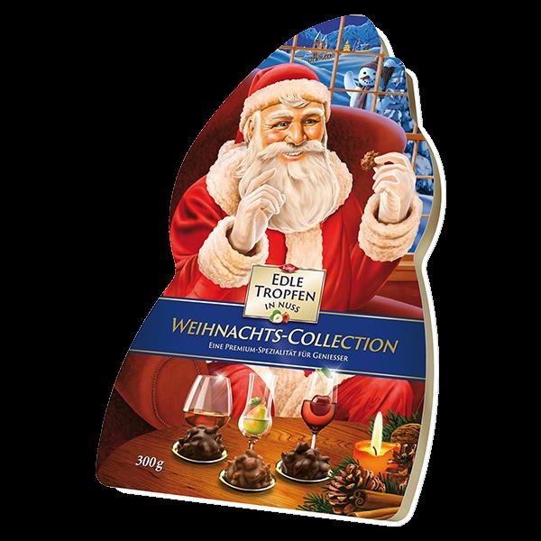 Edle Tropfen in Nuss Weihnachtsmann 300g
